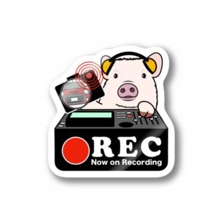 マイクロブタ-1 グッズ ドラレコ ステッカー Stickers