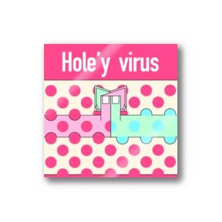 Hole'y virus Stickers