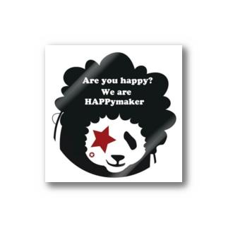 ハッピーアフロパンダ!星目!! Stickers