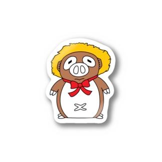 BUTANUKI(全身版) Stickers