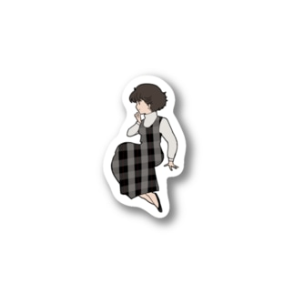 80's Girl ワンピースの彼女 Stickers