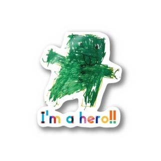 I'm a hero!! Sticker