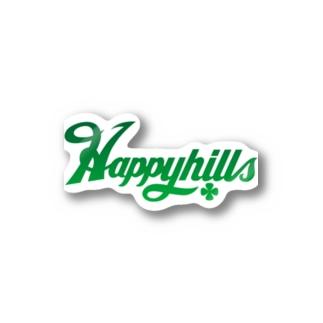 Happyhillsふくおか(緑) Stickers