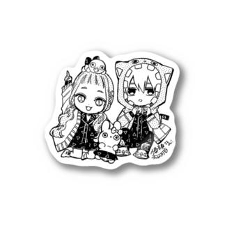 SS manga diary−慎本真−グッズショップの10万人記念ステッカー【しんもとver】 Sticker