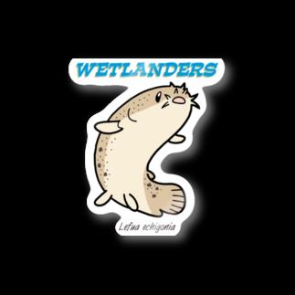 幻想水系branch byいずもり・ようのWETLANDERS(ホトケドジョウ) Stickers