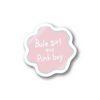 Bluegirl and Pinkboy Stickers