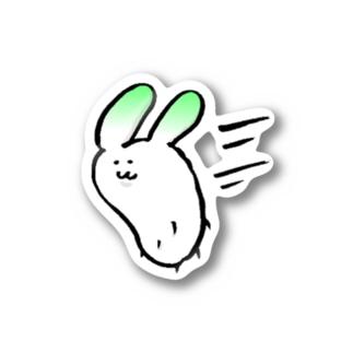 走る大根うさぎ Stickers