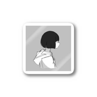 Unikani9の女先輩 Stickers