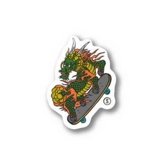 Dragon Skate Sticker Stickers
