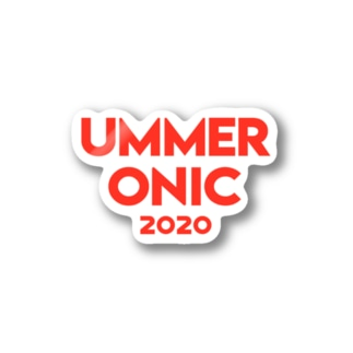 UMMER ONIC (赤ロゴ) Stickers