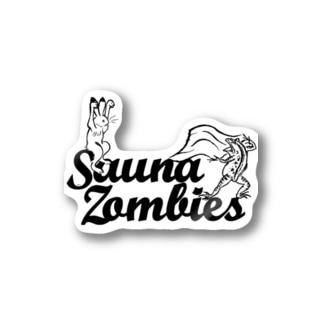 SAUNA ZOMBIES -アウフギーガ ステッカーA - Stickers
