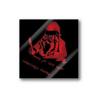 サンタクロース・シルエット・ステッカー Stickers