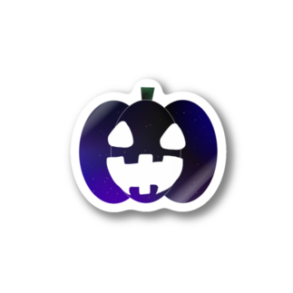 AさんのSUZURIアトリエの宇宙かぼちゃ Stickers