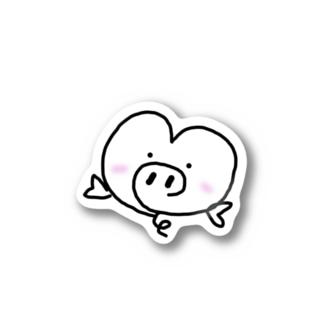 風船はーとん ピンクのほっぺ Stickers