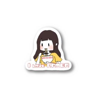I  LOVE RAMEN Stickers