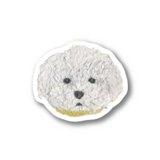 Bless Hue のプードル (白) Stickers