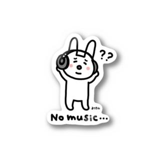 No music… Stickers