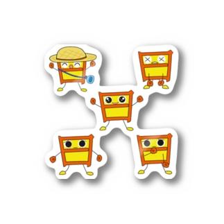 ジェー・オー・ビーのニッチー1 Stickers