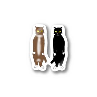 二足歩行のネコ Stickers