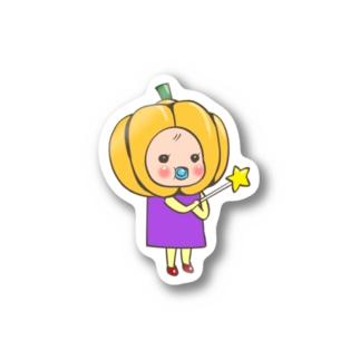 かぼちゃめめ ステッカー Stickers
