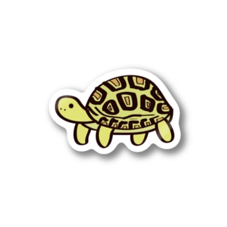 ヒョウモンリクガメステッカー Stickers