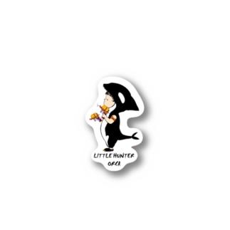 Little hunter orca 背景透明 Stickers