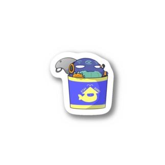 クジラのかんづめ Stickers