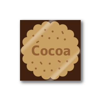 Cocoa brown ステッカー(クッキー) Stickers