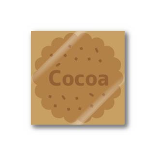 Own Your Life -SUZURI-のCocoa beige ステッカー(クッキー) Stickers
