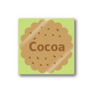 Cocoa ライムグリーン ステッカー(クッキー) Stickers
