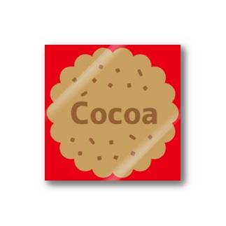 Own Your Life -SUZURI-のCocoa シャイニングレッド ステッカー(クッキー) Stickers