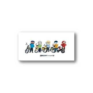 おばさんツーリング部 ステッカー Sticker