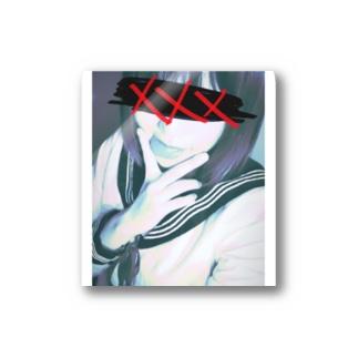 アヘ顔ピースのアヘの部分 Stickers