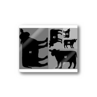 A5牛 Stickers