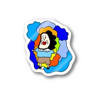 たらこ口男のステッカー Stickers