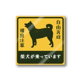 柴犬が乗っています Stickers