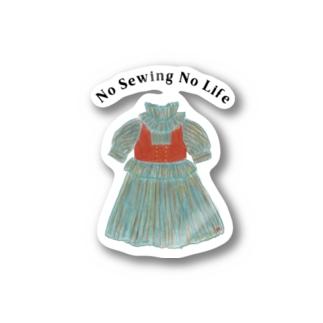 騒がしい風ドレス Stickers