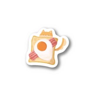 【OSHIBA】エッグベーコントースト_BIG Stickers
