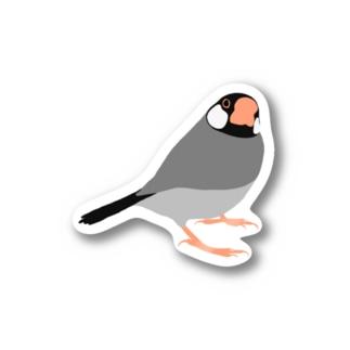 エッヘン文鳥 Stickers