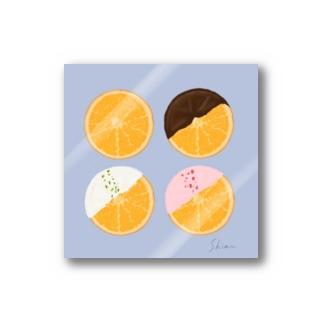 オレンジ Stickers