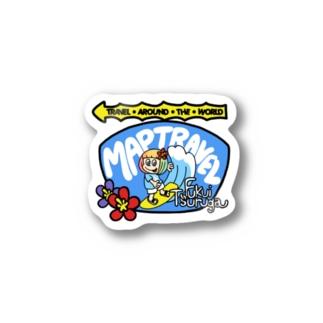 ハレイワ看板xマップトラベル(ハワイを愛するあなたへ) Stickers