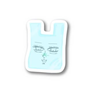 ビニール袋の姉貴 Stickers