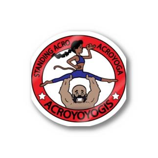 Acroyoyogis Logo Stickers
