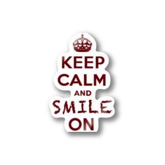 KEEP CALM AND SMILE ON Stickers