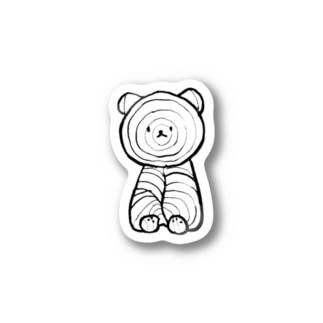 マグロノオスシコウボウのくまぼっこちゃん Stickers