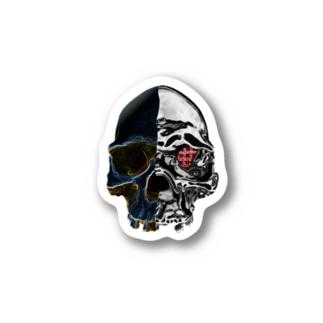 skull ステッカー