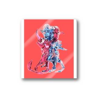 PINKMANの3heads Stickers