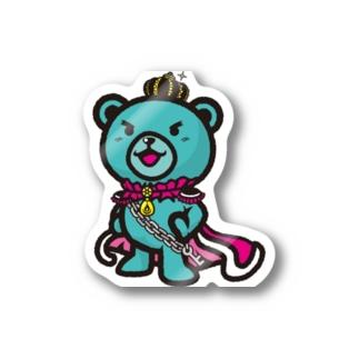 BASEfor  Bear Green Stickers