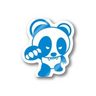 BASEfor PANDA Blue Stickers
