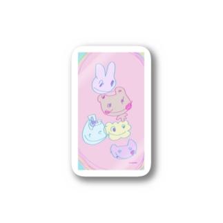 ぱすてる仲間 Stickers
